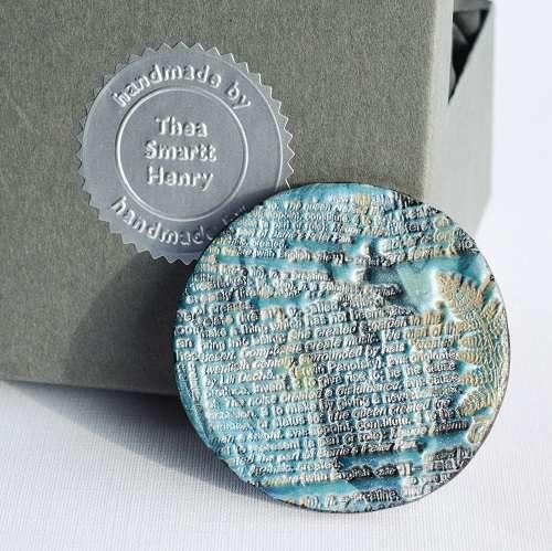 theasmartthenry.co.uk aqua nebular disc brooch